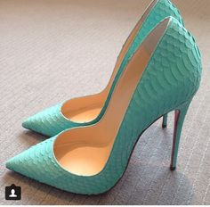 blue louboutins! These remind me of a mermaid tail!