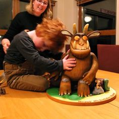 4-Year Old Can Feel How Awesome This Gruffalo Cake Is Gruffalo Party, Gateau Cake, Extreme Cakes, 4 Year Olds, Love Cake, Amazing Cakes, Birthday Cakes, Wedding Cakes, Birthdays