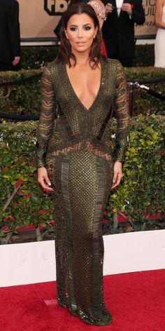 2016 SAG Awards Red Carpet Arrivals - Eva Longoria - from InStyle.com