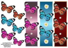 butterfly bookmarks on Craftsuprint - Add To Basket!