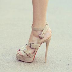 Louboutin sandals at http://www.theblondesalad.com/2012/05/silvian-heach-dress.html - @chiaraferragni- #webstagram