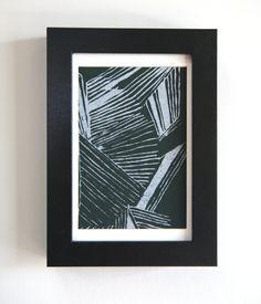 Silver Maze Silk Screen Framed Print. $28.00, via Etsy.