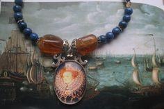 Tudor jewellery Elizabeth 1st jewelry Elizabeth 1st Gemstone Necklace, Gemstone Beads, Beaded Necklace, Pendant Necklace, Fall Accessories, Vintage Accessories, Vintage Jewelry, Silver Necklaces, Silver Jewelry