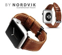 FREE SHIPPING WORLD WIDE. New vintage look Leather band for Apple Watch.  The classic brown leather watch strap fits both iWatch sizes; 38mm and 42mm