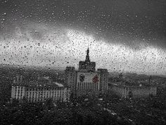 Rainy day in Bucharest-office view
