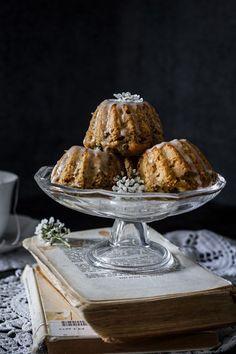 Mini Lemon Balm Rhubarb Bundt Cakes. #desserts #lemonrecipe