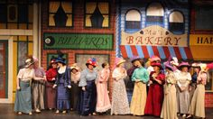 """The West Salem High School production of """"The Music Man"""" features a large cast, all decked out in period costumes. Curtain time at the Marie W. Heider Center for the"""