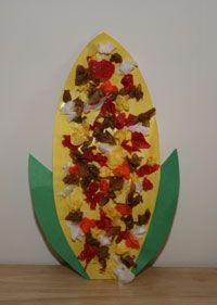 Tissue Paper Indian Corn Craft