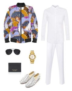 """Bouquet"" jacket ootd by guutanii on Polyvore featuring polyvore, Topman, Thom Browne, Versace, Bally, Burberry, men's fashion, menswear and clothing"