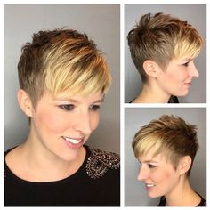 Hairstyles-for-Pixie-Cut - Peinados y pelo 2017 para hombre y mujeres Pixie Bob Haircut, Short Pixie Haircuts, Short Hairstyles For Women, Hairstyles Haircuts, Short Hair Cuts, Undercut Pixie, Pixie Haircut For Round Faces, Short Spiky Hairstyles, Baddie Hairstyles
