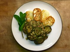 Zucchini with Mint & Basil Pesto and Halloumi Basil Pesto, Halloumi, Summer Time, Zucchini, Bbq, Dinners, Mint, Vegetables, Recipes