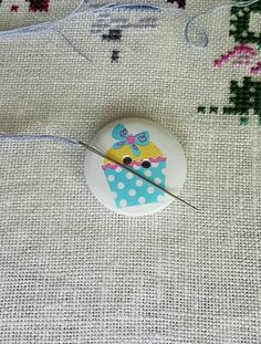 Polka Dot Cupcakes, Needle Minders, Blue Polka Dots, Unique Jewelry, Handmade Gifts, Awesome, Etsy, Kid Craft Gifts, Craft Gifts