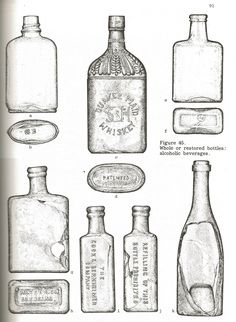 Bottles recovered from the Simpson Springs Station site in western Utah.