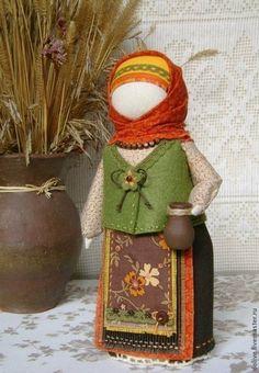 """кукла Берегиня дома """"Осенняя"""" - оранжевый,народная кукла,традиционная кукла"""