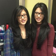 #ShareIG Yes I did these two beautiful twins. Cut and style.  #LongHairSpecialist #AsianHair #ColorCorrectionHairSpecialist #highlightedHair #Hair #hairstylist #Stylist #BalayageHair #HairExtention #ombreHairExtentions #hairColorSpecialist #ColorSpecialist #longHairSpecialist #Perms #bodywaves  #Waylie'sHair #keratinSmothingSystemy #WeddingUpso  #undos #Curls #BlondeColorSpecialist #KeratinSmoothingTreatment #OmbreHair #HighFashionHair #LAhairStylist  #Stylist #Salon #ombre