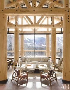 CHIC COASTAL LIVING: Snowy Mountain Retreats: Get The Look
