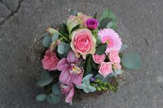 Blumenstrauss rosa ausgeliefert in Grosshöchstetten