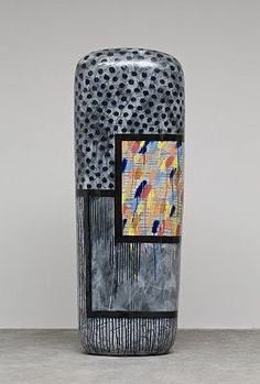 """Jun Kaneko left for America at 21 to study painting. His family collected ceramic art, and Kaneko's focus soon shifted from 2 dimensions to 3. His breakout works were called dangos -- Japanese for """"dumplings"""" -- that resemble huge closed vases."""