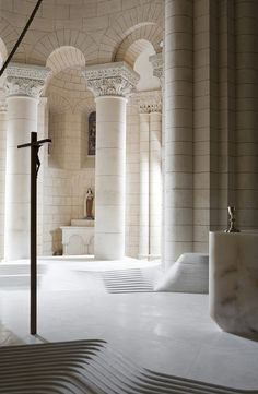 Renovation of St. Hilaire church in Melle, France by Mathieu Lehanneur.