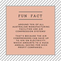 Here's a #FunFact you probably didn't know about air compressor units! To find out more about compressor systems please visit: https://www.harrier.co.uk/