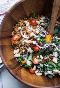 Farro and roasted red pepper salad | Recipe | Roasted Red Peppers, Red ...