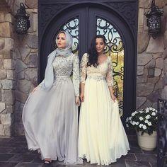 Hijab WeddingHijab + Wedding Season (mariaalia) Hijab Wedding Source : Hijab + Wedding Season (mariaalia) by meriamkha Muslim Prom Dress, Hijab Prom Dress, Hijab Wedding Dresses, Bridesmaid Dresses, Prom Dresses, Dress Wedding, Trendy Dresses, Modest Dresses, Ball Dresses