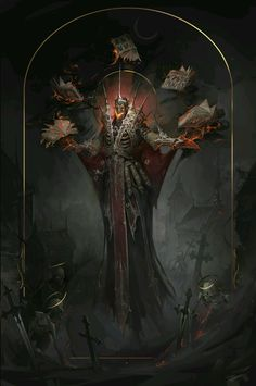 "empyrean-arts: ""Lich by Elisabeth Nagurnaya —– Empyrean Arts: showcasing artists in the Sci Fi and Fantasy genres. Follow for daily cyber-updates """