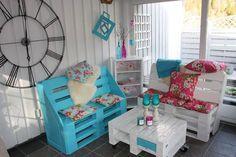 Casa - Decoração - Reciclados: Ambientes lindos e práticos com Pallets - Tudo de Bom !