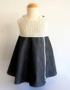 crochet en crudo y denim by Mamipaula y Pipocass Handmade, via Flickr