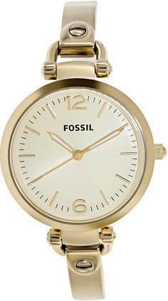 Fossil Women's Georgia ES3084 Gold Stainless-Steel Quartz Watch #Fossil #CasualWatches