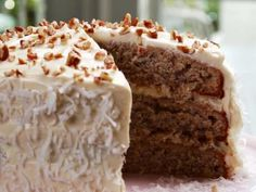 Hummingbird Cake...this one doesn't have nuts so I want to try to combine this recipe and the other one I pinned