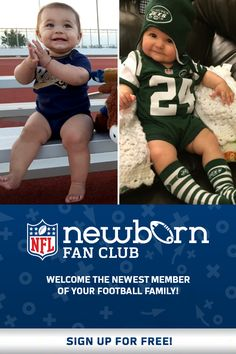Welcome the newest member of your football family! Cute Kids, Cute Babies, Baby Kids, Newborn Baby Care, Papi, Everything Baby, Baby Hacks, My Baby Girl, Baby Wearing