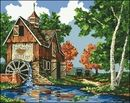 ДОМИКИ, ДВОРИКИ Cross Stitch, Cabin, Landscape, House Styles, Painting, Home Decor, Art, Cross Stitch Landscape, Scenery