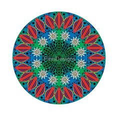 'Colourful Mandala Flower Print' A-Line Dress by FinnDesigns Flower Mandala, Mandala Coloring, Flower Prints, Outdoor Blanket, Shapes, Flowers, Fabric, How To Make, Dress