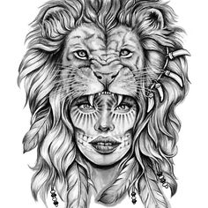 Girl with Lion Head