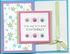 Trifold Flowery Bday