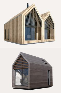 Dwelle: modernas casas diminutas, ecológicas, y autosuficientes Modern Tiny House, Tiny House Cabin, Tiny House Design, Turner House, Tiny Mobile House, Glass Cabin, Gable House, Tiny House Community, A Frame House