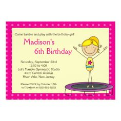 ==> consumer reviews          Fun Gymnastics Kids Birthday Party Invitation           Fun Gymnastics Kids Birthday Party Invitation We have the best promotion for you and if you are interested in the related item or need more information reviews from the x customer who are own of them before p...Cleck Hot Deals >>> http://www.zazzle.com/fun_gymnastics_kids_birthday_party_invitation-161161461303339646?rf=238627982471231924&zbar=1&tc=terrest