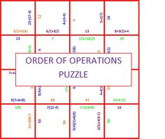 photo relating to Order of Operations Game Printable known as 99 Suitable get of functions photos within 2019 Acquire of