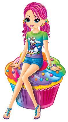 〆(⸅᷇˾ͨ⸅᷆ ˡ᷅ͮ˒)                                                               Cupcake Girl by Lisa Frank