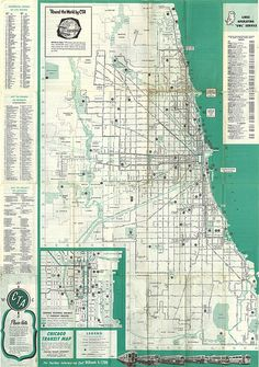 Chicago Transit Map 1955