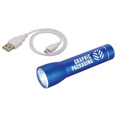 2200 mAh powerbank with a powerful LED flashlight.  This multi function item is sure to get lots of use...