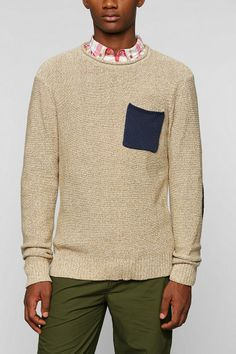 CPO Contrast Pocket Sweater #urbanoutfitters