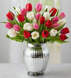 Sweetest Love Tulips, 30 Stems is the perfect  #romantic gift to prove you know #HOW2WOW her! $49.99