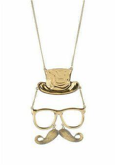 Fashion Vintage Hat Beard Necklaces
