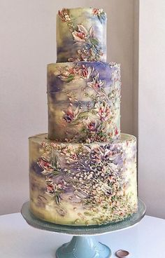 Unique Wedding Cake Designs: The Chicest and Most Modern Ideas - Beautiful Cakes - Cake Design Amazing Wedding Cakes, Unique Wedding Cakes, Unique Cakes, Wedding Cake Designs, Amazing Cakes, Rustic Wedding, Cake Wedding, Wedding Cupcakes, Lavender Wedding Cakes