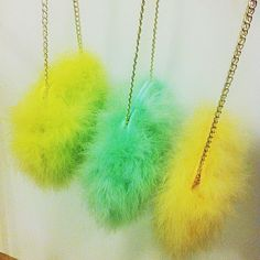 We are obsessed with these marabou feather cross body bags #riverisland #springpreview