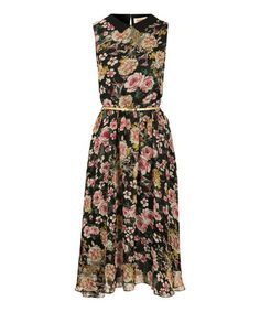 Another great find on #zulily! Black Floral Renn Hi-Low Dress by Louche #zulilyfinds