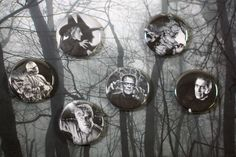 Halloween 2015 Button of the Week! Classic movie monster pin sets. Mummy, Creature from the Black Lagoon, Dracula, Frankenstein, Wicked Witch of the West, Werewolf Black Lagoon, Wicked Witch, Halloween 2015, Frankenstein, Dracula, Werewolf, Creatures, Movie, Button