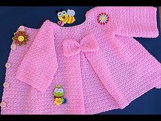 Majovel crochet girl coat muy fácil - abriguito y capas - Crochet Girls, Crochet Baby Clothes, Cute Crochet, Crochet For Kids, Crochet Lace, Crochet Baby Cardigan Free Pattern, Crochet Coat, Cute Coats, Baby Coat